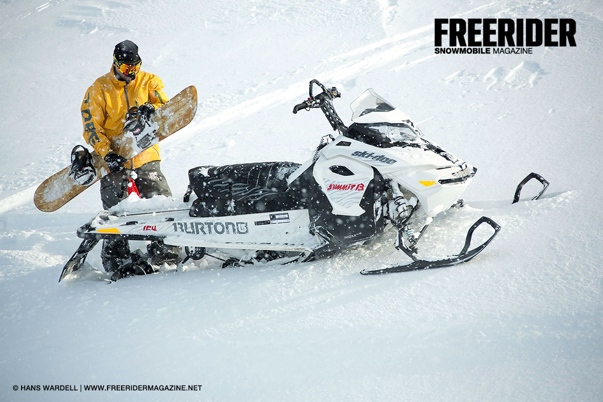 skidoo summit burton freerider snowmobile magazine